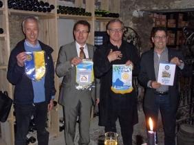Les présidents: Dott. Enrico Guazzotti (Turin), François Le Druillennec (Chambéry),  Yves Clerc-Renaud (Aix-les-Bains), Maurice Neyroud (Montreux-Vevey)